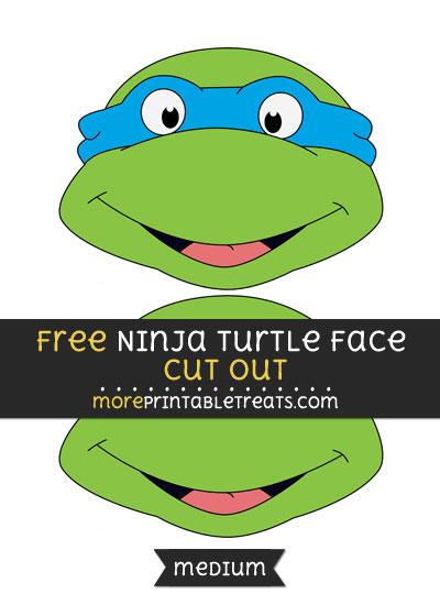 Free Ninja Turtle Face Cut Out - Medium Size Printable