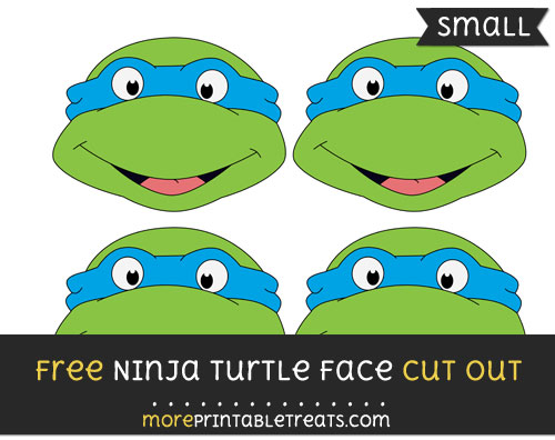 Free Ninja Turtle Face Cut Out - Small Size Printable
