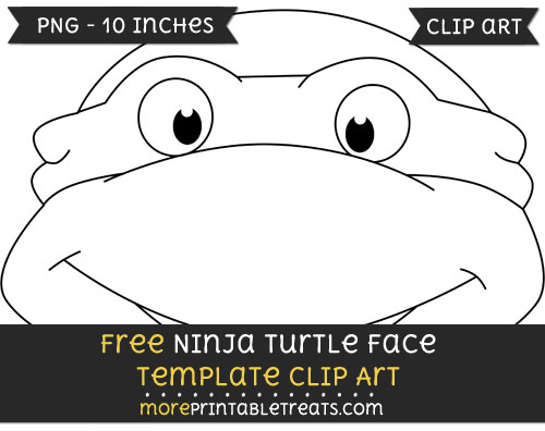 Free Ninja Turtle Face Template - Clipart