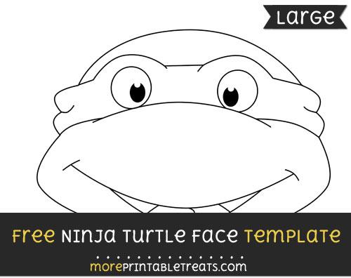 Free Ninja Turtle Face Template - Large