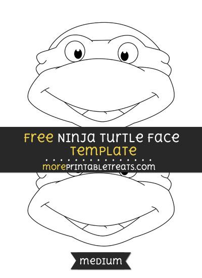 Free Ninja Turtle Face Template - Medium