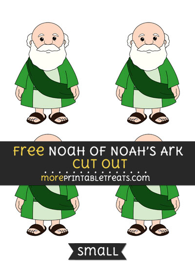 Free Noah Of Noahs Ark Cut Out - Small Size Printable