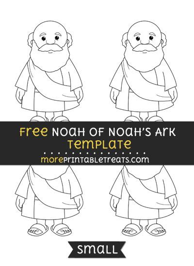 Free Noah Of Noahs Ark Template - Small