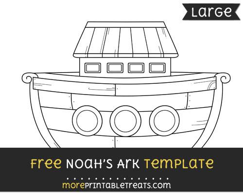 Free Noahs Ark Template - Large