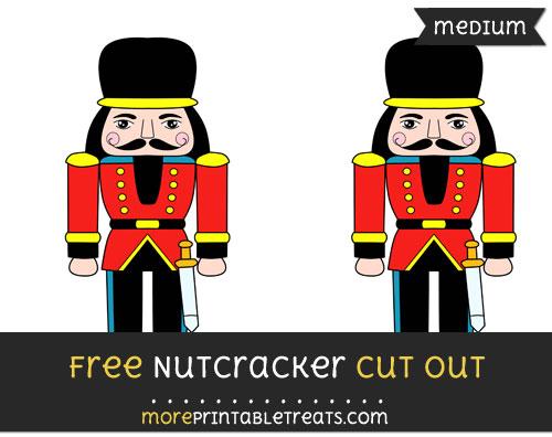 Free Nutcracker Cut Out - Medium Size Printable