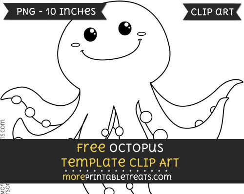 Free Octopus Template - Clipart