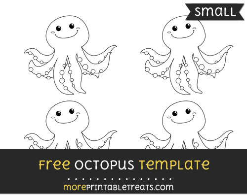 Free Octopus Template - Small