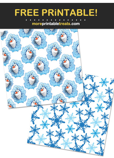 Free Printable Olaf Snowman Backgrounds