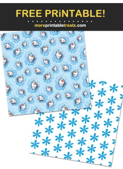 Free Printable Olaf Snowman Theme Paper