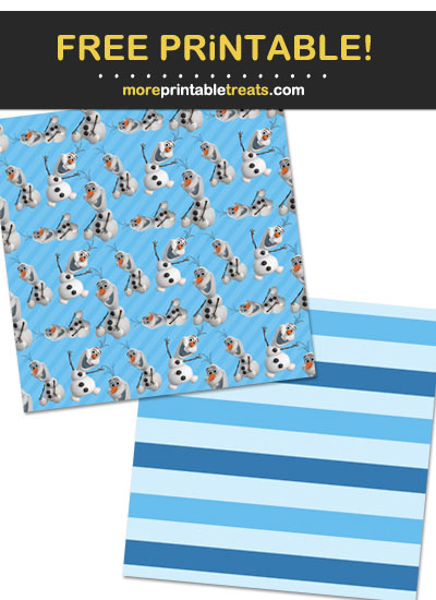 Free Printable Olaf Snowman Wrapping Paper