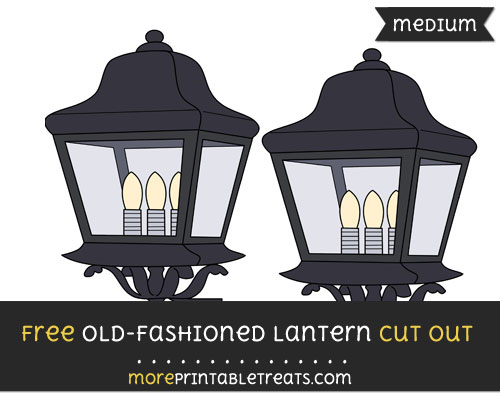 Free Old Fashioned Lantern Cut Out - Medium Size Printable