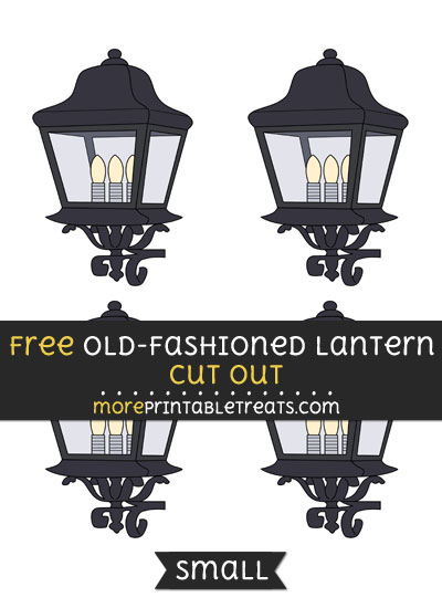 Free Old Fashioned Lantern Cut Out - Small Size Printable