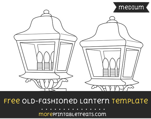 Free Old Fashioned Lantern Template - Medium