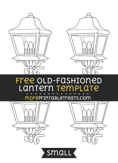 Free Old Fashioned Lantern Template - Small