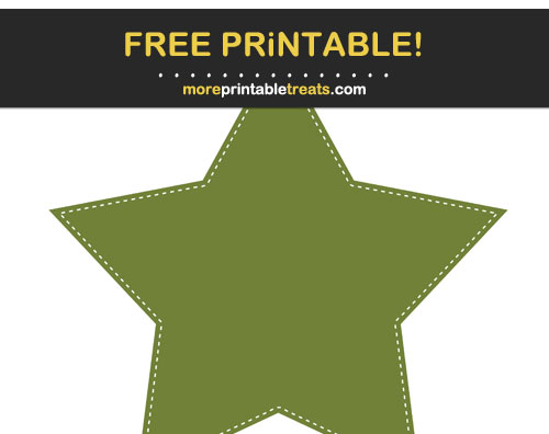 Free Printable Olive Green Star