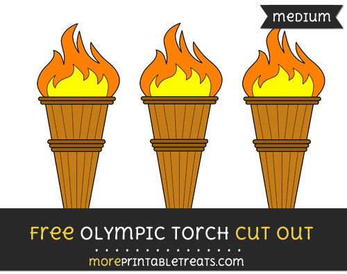 Free Olympic Torch Cut Out - Medium Size Printable