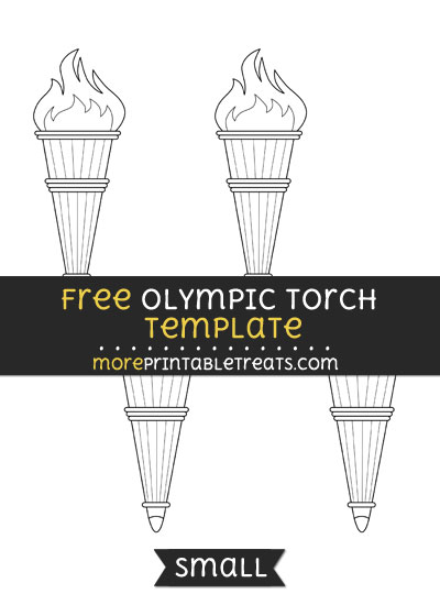 Free Olympic Torch Template - Small