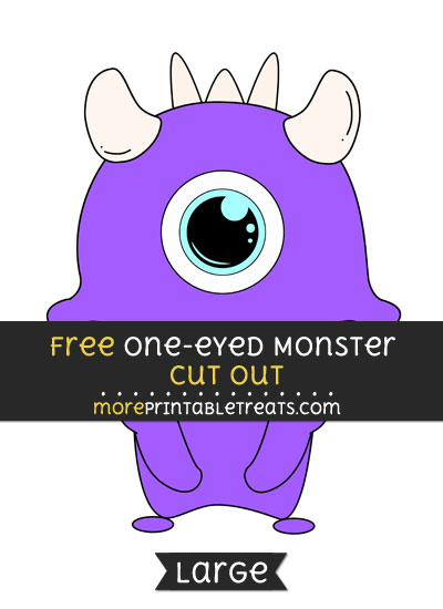 Free One Eyed Monster Cut Out - Large size printable