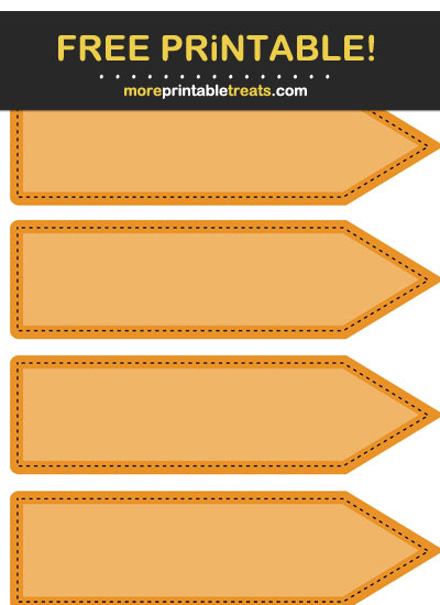 Free Printable Orange Arrow Flag Labels