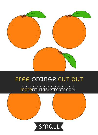 Free Orange Cut Out - Small Size Printable