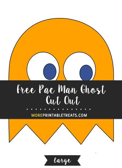 Free Orange Pac Man Ghost Cut Out - Large