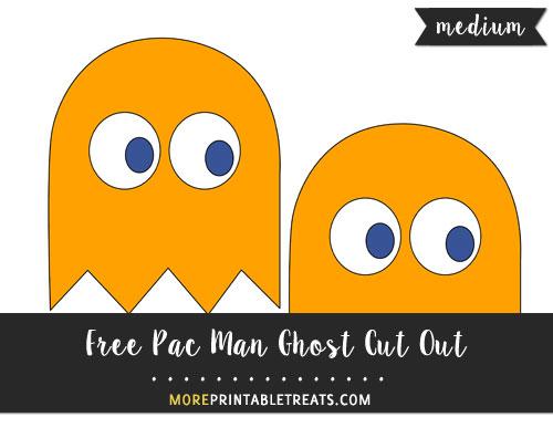 Free Orange Pac Man Ghost (Clyde) Cut Out - Medium