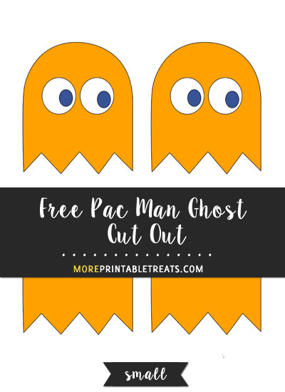 Free Orange Pac Man Ghost Cut Out - Small