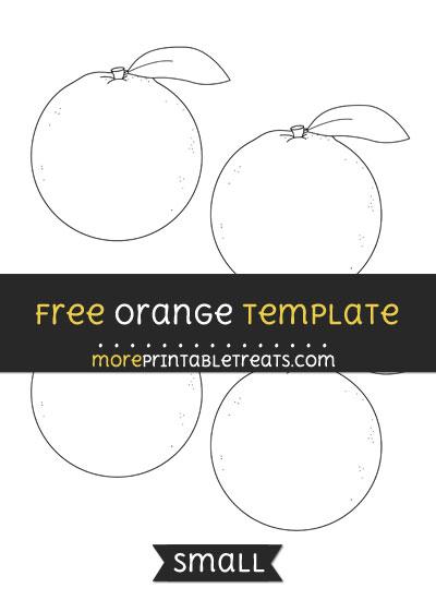 Free Orange Template - Small