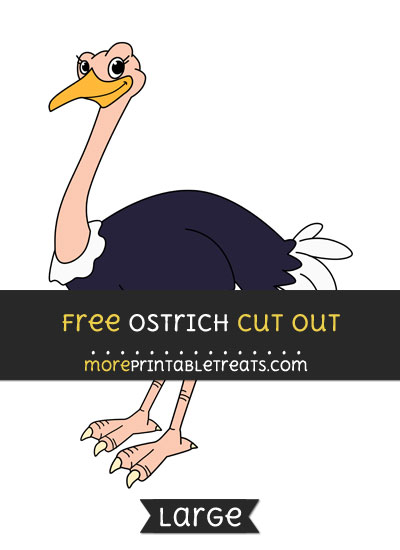 Free Ostrich Cut Out - Large size printable