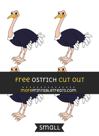 Free Ostrich Cut Out - Small Size Printable