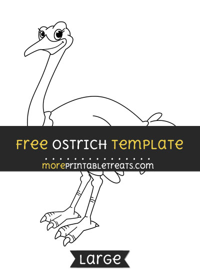 Free Ostrich Template - Large