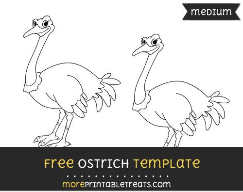 Free Ostrich Template - Medium
