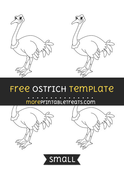 Free Ostrich Template - Small