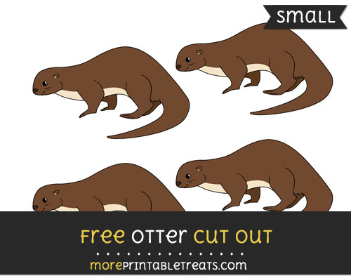 Free Otter Cut Out - Small Size Printable
