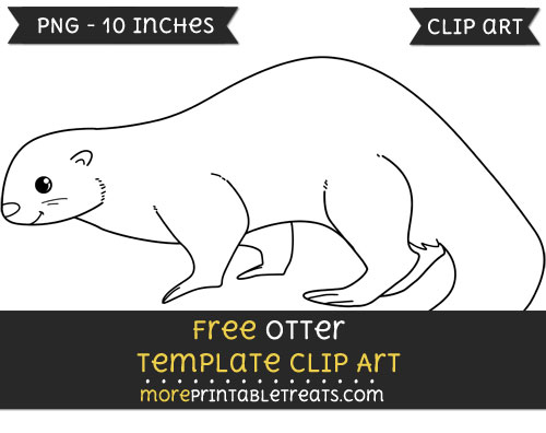 Free Otter Template - Clipart