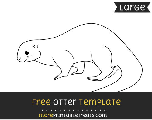 Free Otter Template - Large