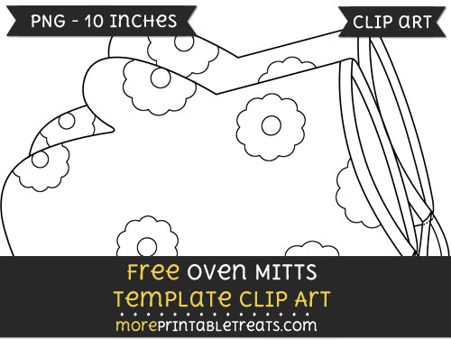 Free Oven Mitts Template - Clipart