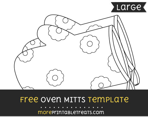 Free Oven Mitts Template - Large