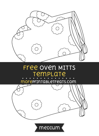 Free Oven Mitts Template - Medium