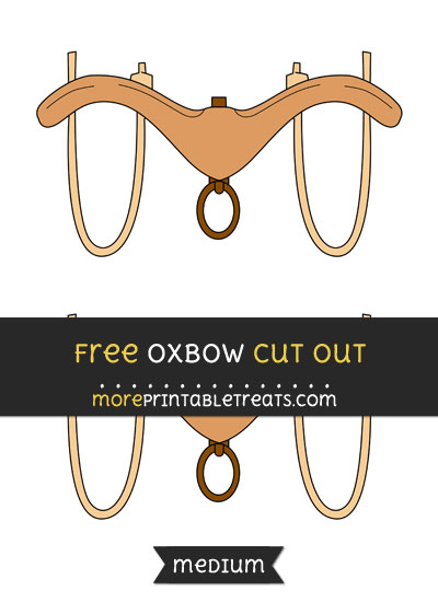 Free Oxbow Cut Out - Medium Size Printable