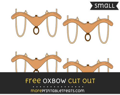 Free Oxbow Cut Out - Small Size Printable
