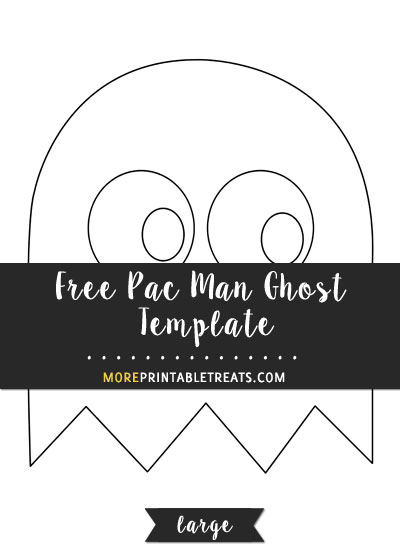Free Pac Man Ghost Template - Large
