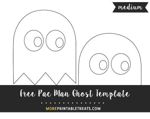 Free Pac Man Ghost Template - Medium Size