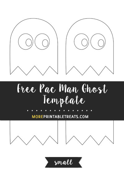 Free Pac Man Ghost Template - Small Size
