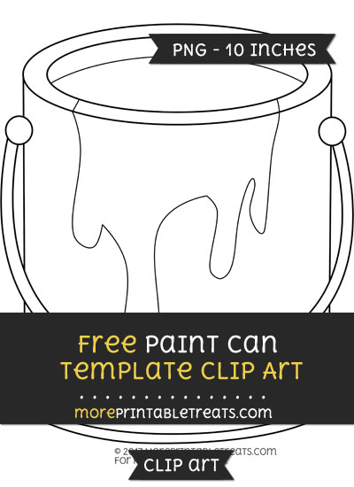 Free Paint Can Template - Clipart