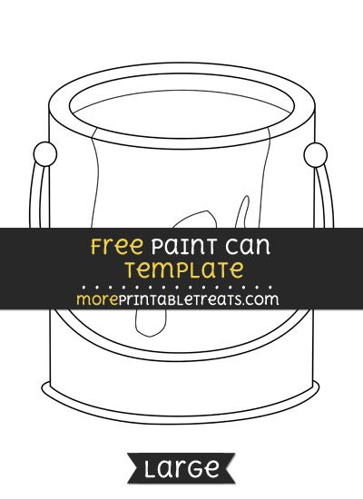 Free Paint Can Template - Large