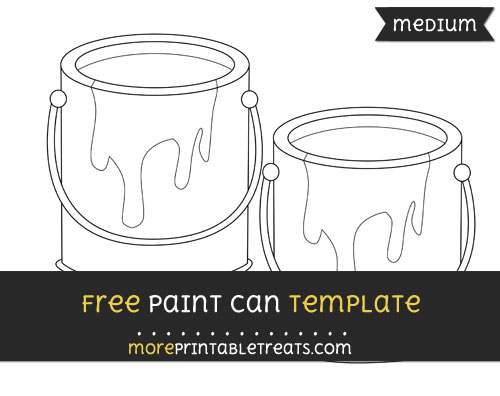 Free Paint Can Template - Medium