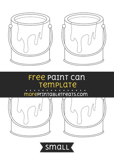 Free Paint Can Template - Small