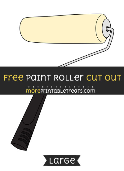 Free Paint Roller Cut Out - Large size printable