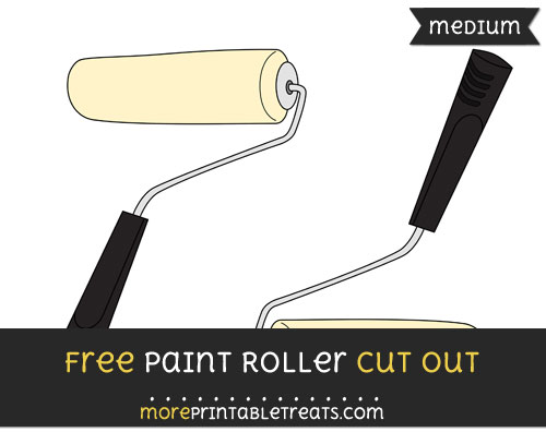 Free Paint Roller Cut Out - Medium Size Printable